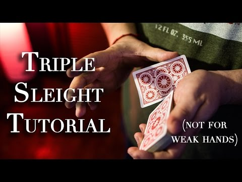 Triple Knuckle Busting Card Tutorial (not for the weak of hand)