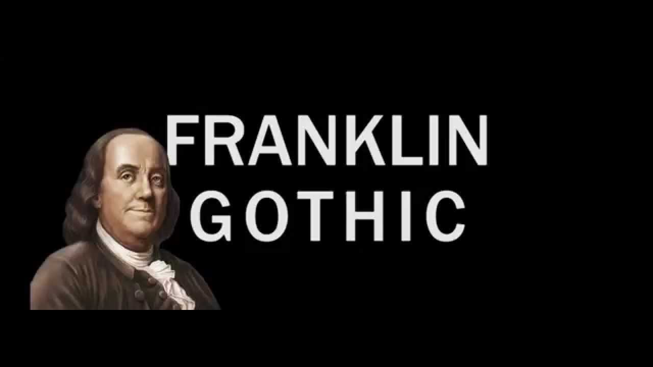 Franklin gothic audio visual