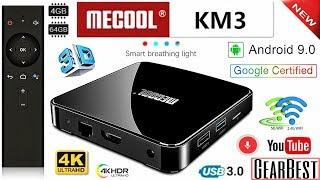 Android TV BOX - MECOOL KM3 - Android 9.0 с Голосовым Управлением - Полный Обзор