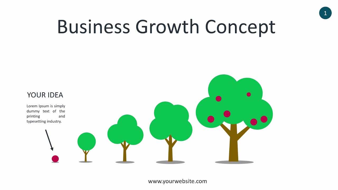 Business Growth Infographic - Animated PowerPoint Template