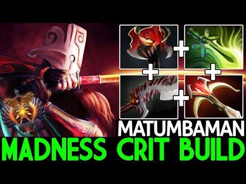 MATUMBAMAN [Juggernaut] Madness Crit Build Real Carry Killer 7.24 Dota 2