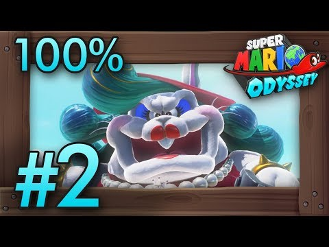 Super Mario Odyssey 100% Walkthrough Part 2 | Cascade Kingdom (All Moons & Coins) Switch Gameplay