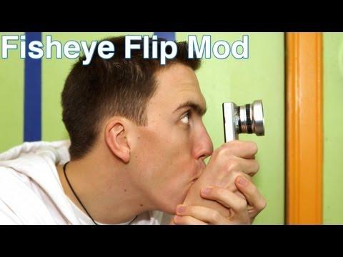 How To Put On A Fisheye / Macro Lens To A Flip Cam Mino Hd