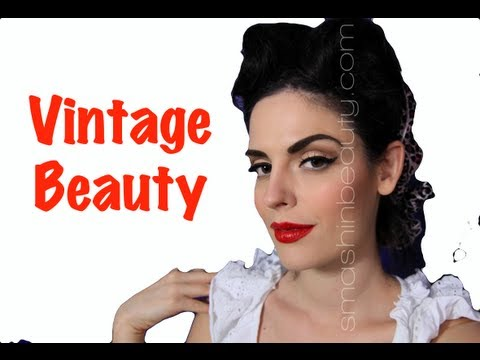 Vintage Makeup Pin Up Halloween Makeup Tutorial