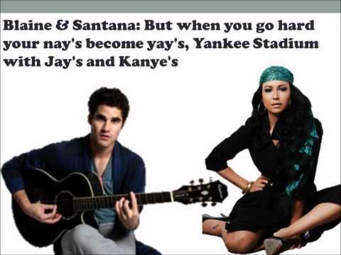 Fly & I Believe I Can Fly Glee Lyrics
