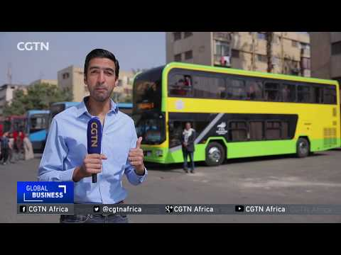 First batch of double decker buses operation in Cairo