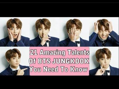 21 Amazing Talents Of BTS Jungkook