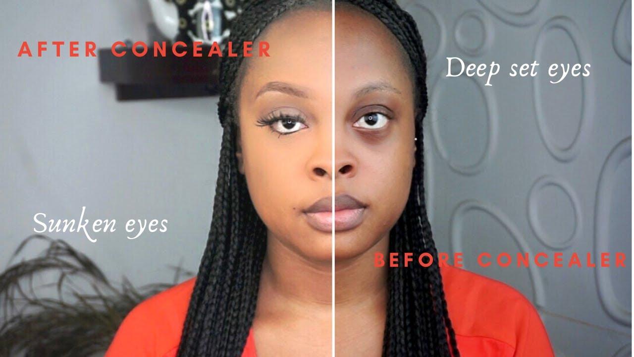Makeup for sunken eyes / deep set eyes - YouTube