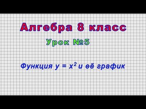 Алгебра 8 класс функция y x2 видеоурок