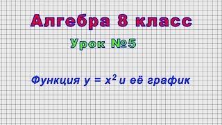 Алгебра 8 класс (Урок№5 - Функция y = x2 и её график)