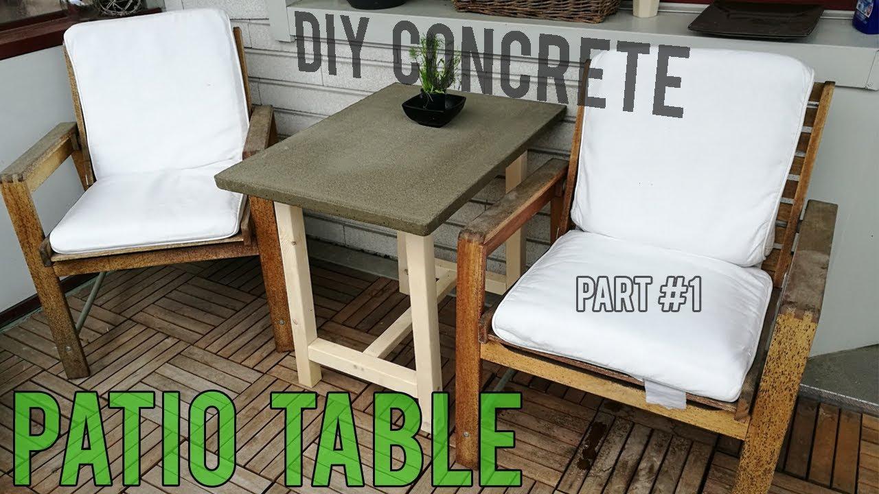 Diy Concrete Patio Table Part 1