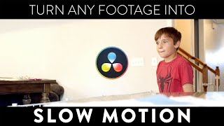 Using Optical Flow to create Beautiful Slow Motion Footage | DaVinci Resolve 16 Tutorial