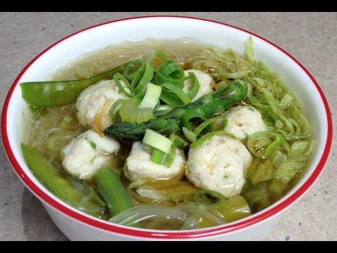 Fish ball soup bee hoon video recipe cheekyricho youtube for Chinese fish balls