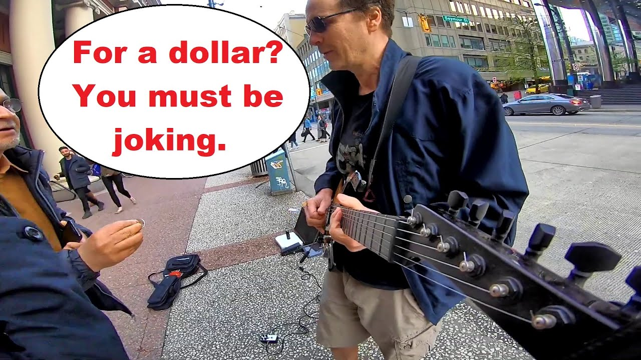 Another dick in the wall -Couple interrupts Floyd for ridiculous request. Don't do this to a busker