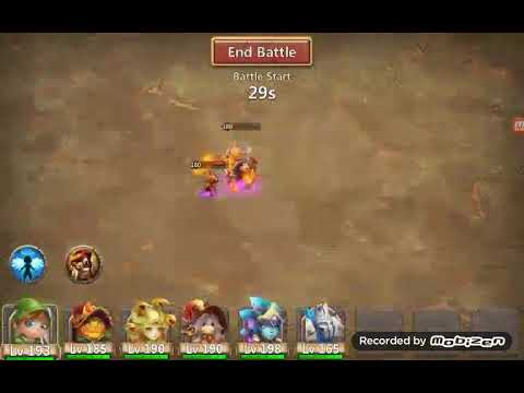 Castle Clash Boss 5 With F2p Heroes.. Easy 3 Min  Runs...   Super.heros Guild  Is Recruiting. .. Usa