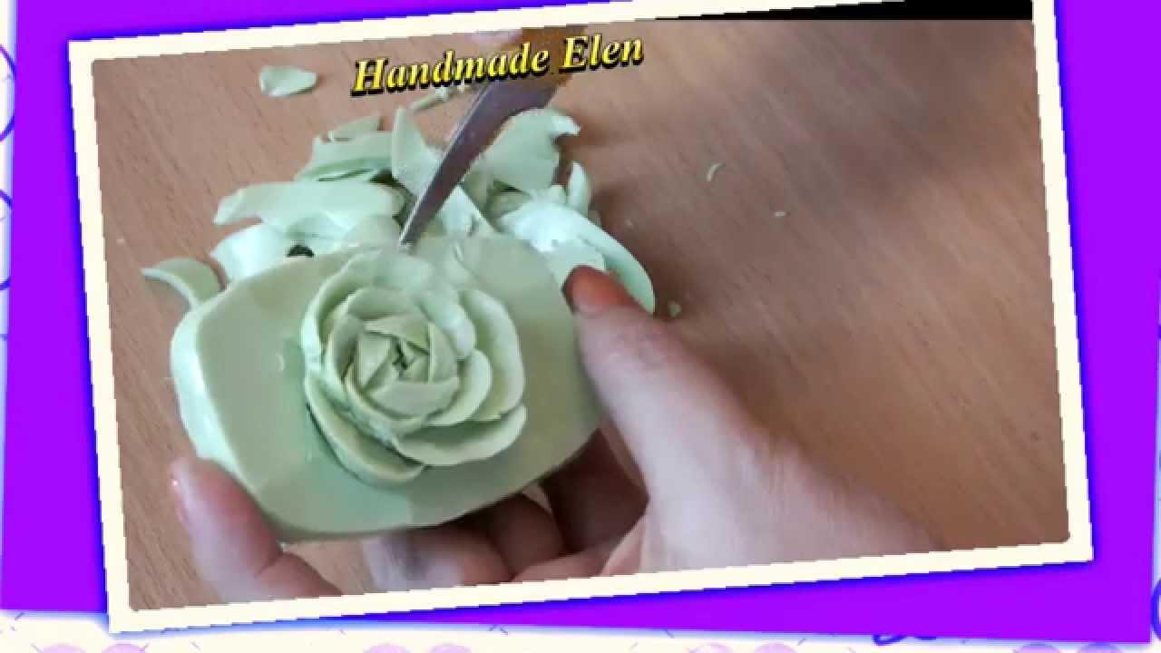 Soap carving tutorial handmade แกะสลักสบู่ نحت الصابون