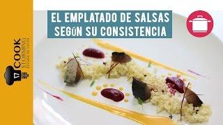 El emplatado de salsas según su consistencia - CookStorming