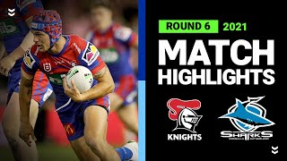 Knights v Sharks Match Highlights   Round 6, 2021   Telstra Premiership   NRL