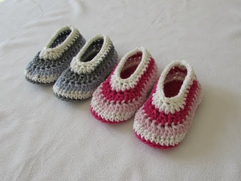 How to crochet EASY children's shoes / booties for beginners