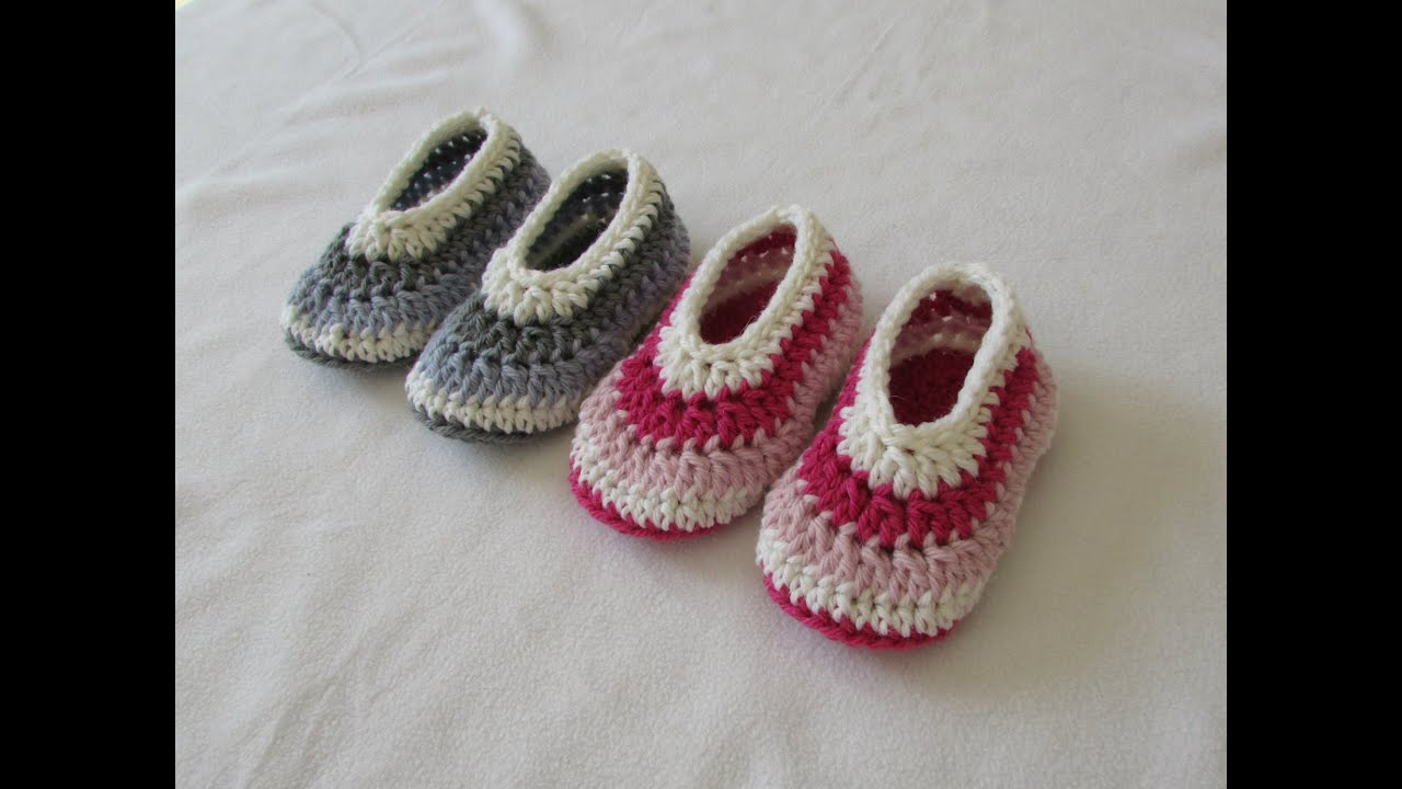 How To Crochet Easy Childrens Shoes Booties For Beginners Youtube