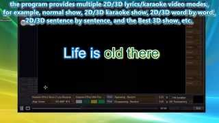 How to make the best 2D or 3D Lyrics/Karaoke Videos. Mp3