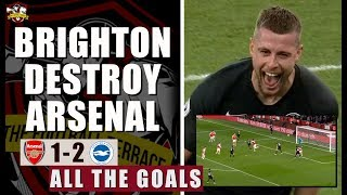Arsenal are utterly EMBARRASSING | Arsenal 1-2 Brighton All The Goals Show