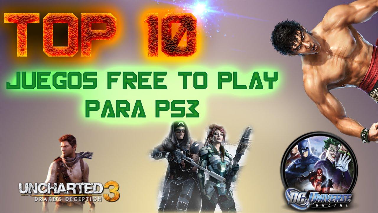 Top 10 Juegos Free To Play Para Ps3 Gratis Youtube