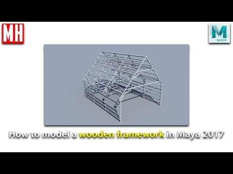 Maya 2017 tutorial : How to model a wood frame construction