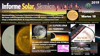 19/02 Informe Solar y Sísmico - LA SUPERLUNA DE FEBRERO