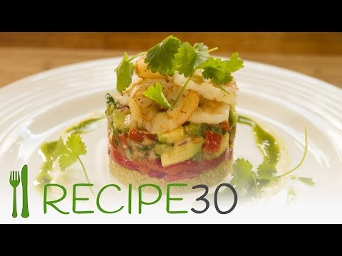 SHRIMPS (prawns) WITH GUACAMOLE Easy And Healthy Recipe - Recipe30
