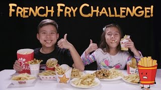 FRENCH FRY CHALLENGE!!! w/ Homemade Zucchini Fries Prank!