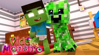 MINECRAFT : VIDA DE MONSTROS - MEU AMIGO CREEPER !!! #2
