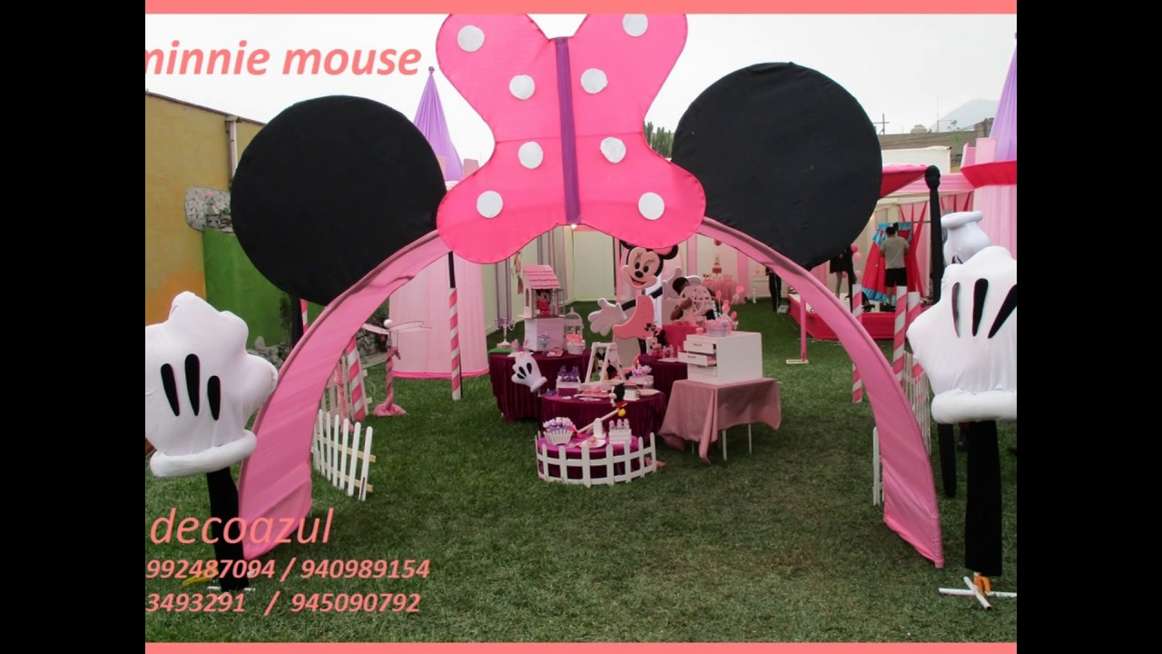 Minnie mouse decoraciones de fiestas infantiles minnie for Decoracion pared infantil