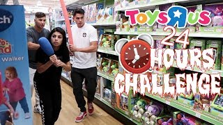 Download 24 HOUR OVERNIGHT CHALLENGE AT TOYS R US (WE SET OFF THE ALARM!) Mp3 and Videos