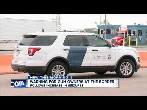 Law Enforcement Officers Say People Bringing Guns To The U.S./Canada Border Is Becoming A Big Issue