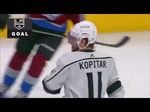 Anze Kopitar 4th goal. Los Angeles Kings vs Colorado Avalanche 3/22/2018