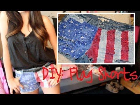 DIY: American Flag Shorts
