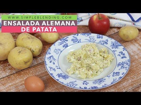 Ensalada alemana de patata   Ensalada de patata estilo alemán   Plato vegetariano