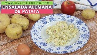 Ensalada alemana de patata | Ensalada de patata estilo alemán | Plato vegetariano