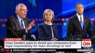 Bernie Sanders (4/28) GUNS I First Democratic Presidential Debate 2016 by CNN 10 13 2015