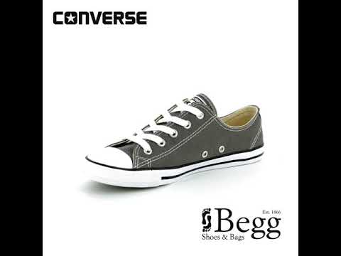 ce5b80c707ac Converse All Star Dainty Ox 532353C Charcoal trainers - YouTube