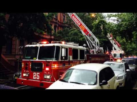 "FDNY RESPONDING & ON SCENE OF ""ALL HANDS"" FIRE ON W. 88TH ST. ON THE WEST SIDE OF MANHATTAN, NYC."