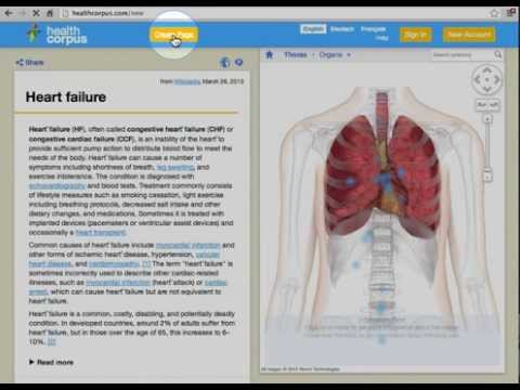 HealthCorpus - Use a Virtual Body to Search and Browse Health Articles