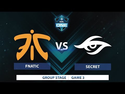 Fnatic vs Secret | Game 3 | ESL One Katowice 2018