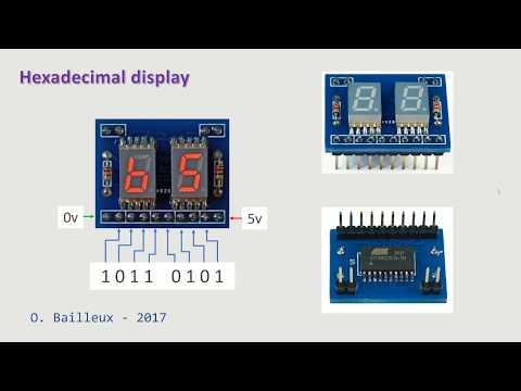 Hexadecimal display device