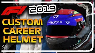 F1 2019 CUSTOM CAREER MODE HELMET TUTORIAL!!!