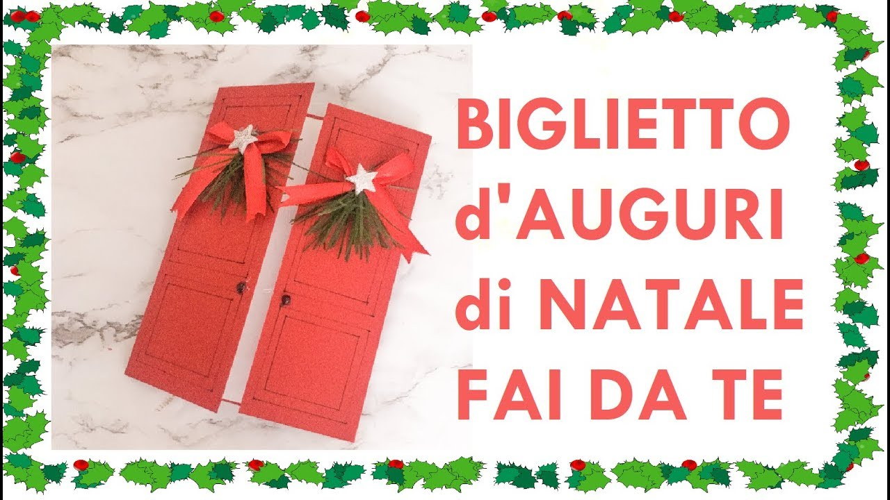 Biglietti Di Natale Youtube.Biglietto D Auguri Di Natale Fai Da Te Diy Christmas Greatings Card