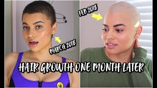 HAIR GROWTH UPDATE! 1 MONTH (+ products I used )