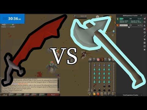 What's Better- Dragon Scimitar Or Leaf-Bladed Battleaxe? OSRS
