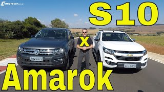 Comparativo: VW Amarok V6 x Chevrolet S10 High Country